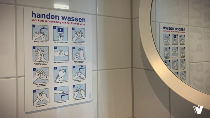 Wasinstructies met pictogrammen