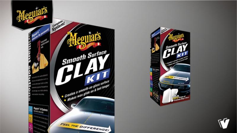 Meguiar's G1016EU Smooth surface clay kit 473ml, 2*80g